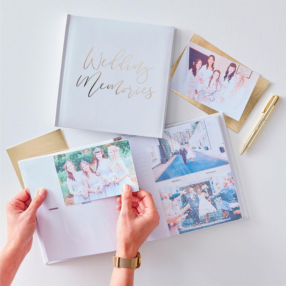 Livre D'Or 200 photos Wedding Memories Blanc et Or