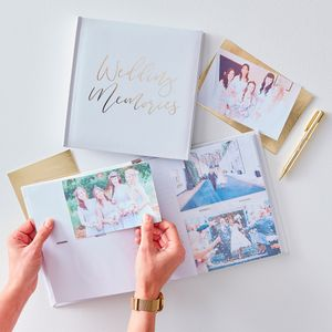 Livre D'Or 200 photos Wedding Memories Blanc et Or