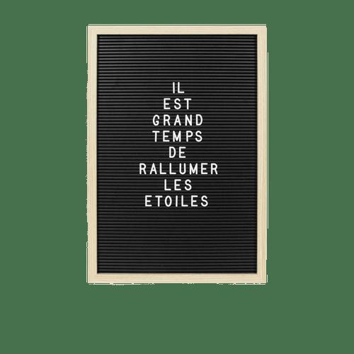 Letter Board contour bois 46x31 cm