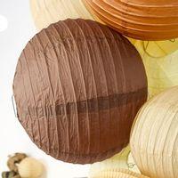 Boule papier 30cm Chocolat