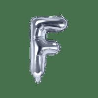 Ballon Lettre F Argent 35 cm