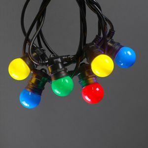 Guirlande Guinguette Multicolore Ampoules Remplaçables 10 m