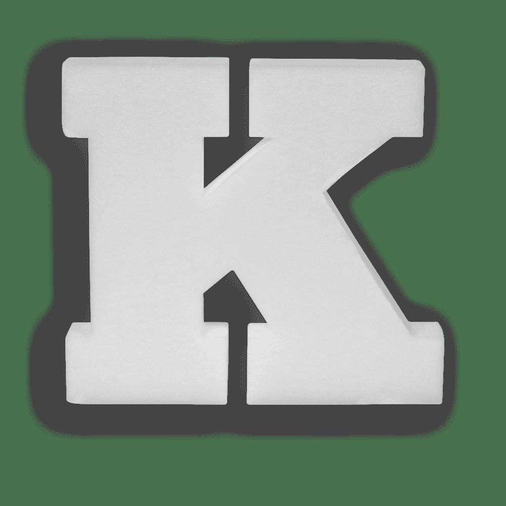 Lettre K en Polystyrène 20cm