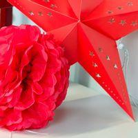 Pompons Rouge 50cm x2