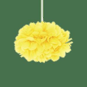 Pompons Jaune Citron 20cm x2