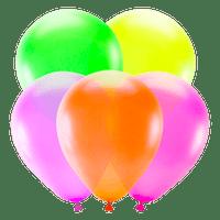 Ballon Fluo Latex Multicolore x5