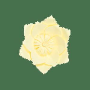 Fleur En Papier Clématite Jaune Pâle 20 cm