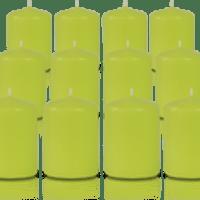 Pack de 12 bougies votives Vert citron 5x7cm