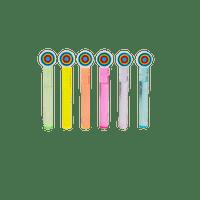 Bulles Tube Multicolore x6