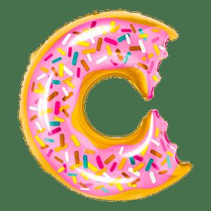 Ballon Donut Rose et Jaune 73 cm