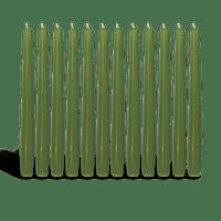 Pack de 12 chandelles Vert 2,3x25cm