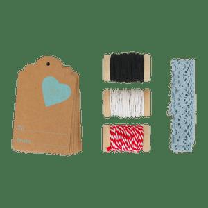 Set Etiquettes Cadeau Coeur
