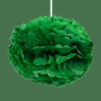 Pompons Vert Foncé 50cm x2