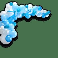 Arche De Ballon Latex Bleu x70