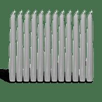 Pack de 12 chandelles Gris Anthracite 23x25cm