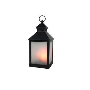 Lanterne Noire LED Effet Torche 26 cm