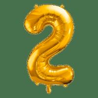 Ballon Chiffre 2 Or 90 cm