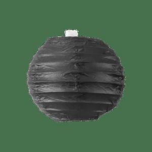 Boule papier 10 cm Noir