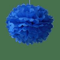 Décoration De Mariage, Fête, Anniversaire Pompons Bleu Roi 40Cm (Lot De 6 Pièces)