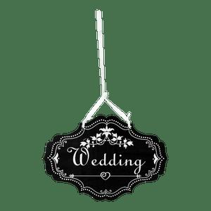 Panneau Wedding Vintage Noir 20cm