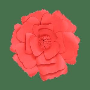 Fleur En Papier Anémone Rouge 30 cm