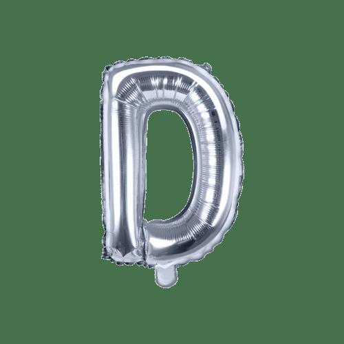 Ballon Lettre D Argent 35 cm
