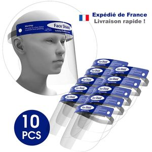 Lot de 10 Visieres Anti-Projection transparente 32x22