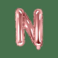 Ballon Lettre N Rose Champagne 35cm