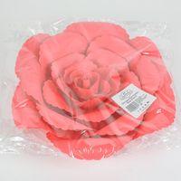 Fleur En Papier Rose Ancienne Rouge 30 cm