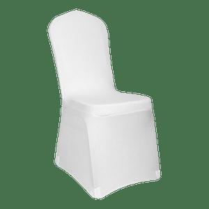 Housse de Chaise Extensible 90 cm Blanc