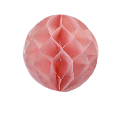 Deco Mariage & Fête Boule Chinoise Alvéolée 20 Cm Rose Pâle (Lot De 5 Pièces)