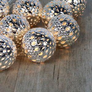 Guirlande Lumineuse Grandes Boules Marocaines Argent