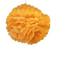 Deco Pour Mariage, Fête, Anniversaire Pompons Orange 50Cm (Lot De 4 Pièces)