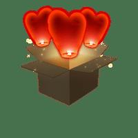 Coeur Rouge x3