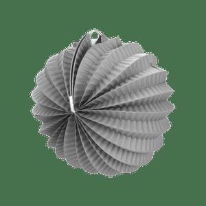 Lampion rond 20 cm Gris