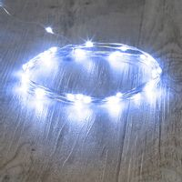 Guirlande 40 Micro LED Argent Blanc Froid 4M