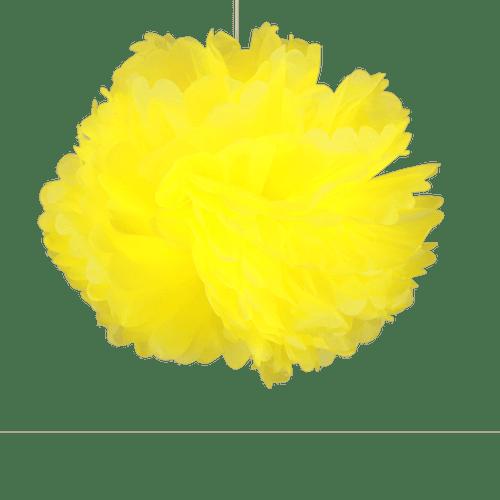 Décoration De Mariage & Fête Pompons Jaune 50 Cm (Lot De 4 Pièces)