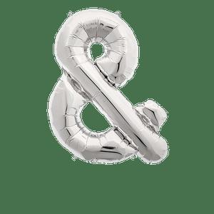 Ballon Lettre & Argent 90 cm