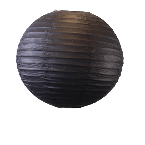 Déco Mariage & Fête Boule Papier 50 Cm Noir (Lot De 3 Pièces)
