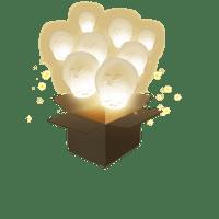 Balloon Blanc x3