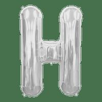 Ballon Lettre H Argent 90 cm