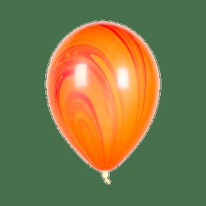 Ballon Marbré Rouge et Orange