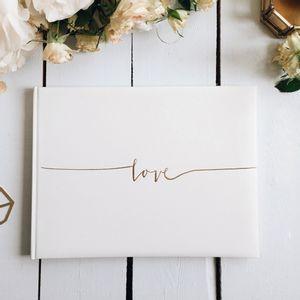 Livre d'or Love Blanc