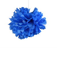 Deco Soirée Mariage & Fête, Anniversaire, Fête Pompons Bleu Roi 30Cm (Lot De 6 Pièces)
