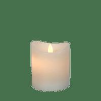 Bougie LED Ivoire 10cm Flamme Vacillante