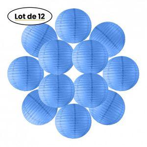 Lot de 12 Boules Japonaises Bleu Roi 30 cm