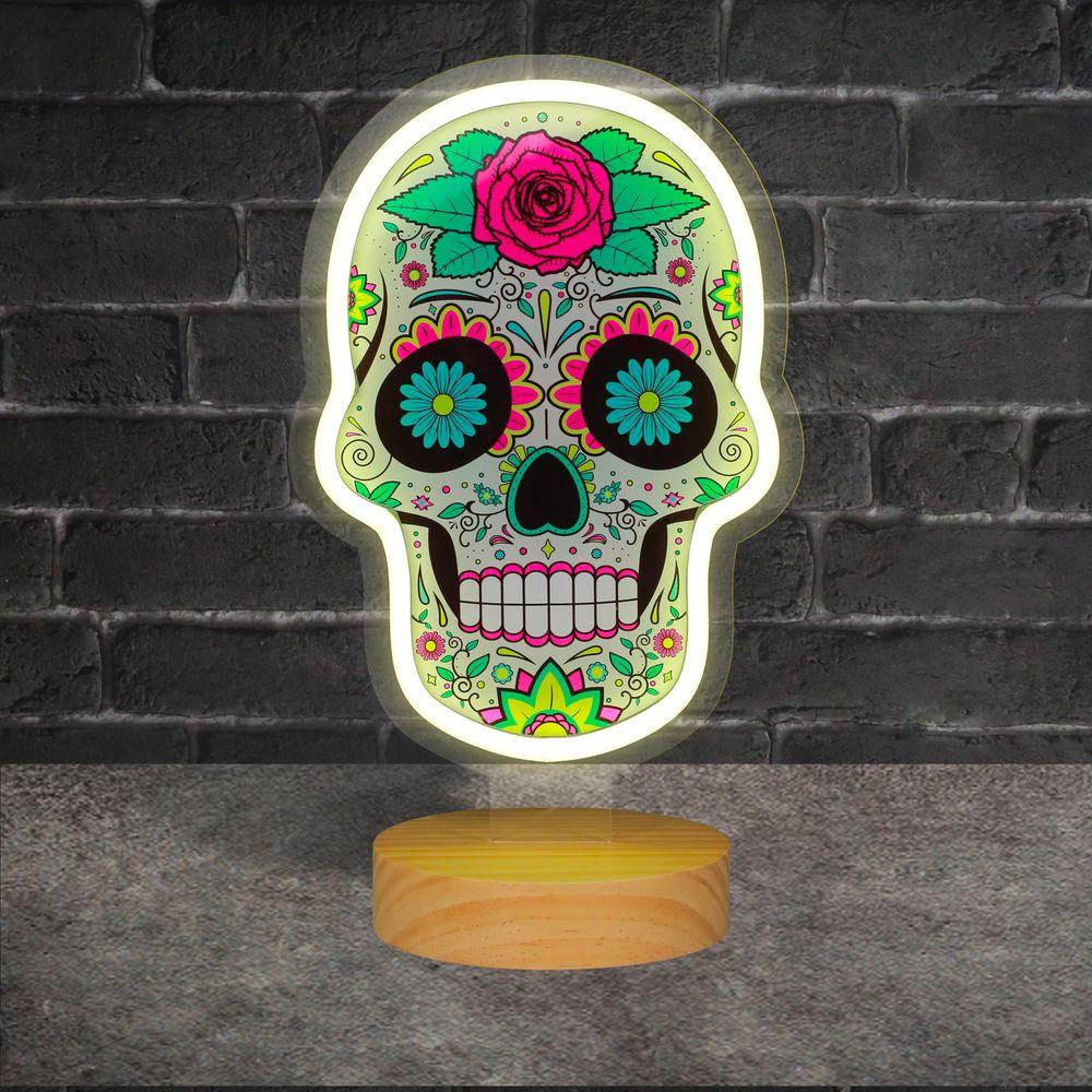 Lampe Neon Dia de Los Muertos sur Pied