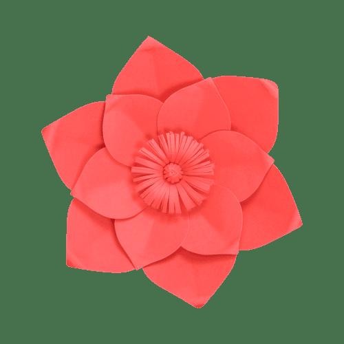 Fleur En Papier Clématite Rouge 30 cm