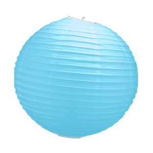 Boule Papier Turquoise 30 cm x3