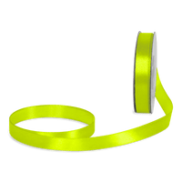 Ruban Satin Vert Fluo 12mm x 25m